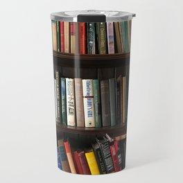 The Bookshelf in the Library Travel Mug