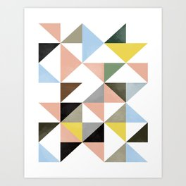 Geometric Abstract,Abstract Print,Abstract Poster,Geometric Triangles,Printable Art,Modern Art Art Print