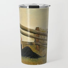 Laurits Andersen Ring - In the month of June - Victorian Belle Époque Vintage Retro Oil Painting Travel Mug