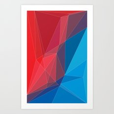 Old triangles Art Print