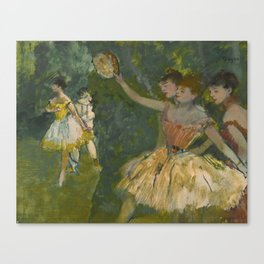 "Edgar Degas ""Dancers with tambourine"" Canvas Print"