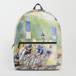 Colorful Bike Race Art Backpack