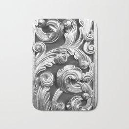 Decorative metalic foliage ornaments Bath Mat