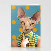 polka dot Stationery Cards featuring DOT by Julia Lillard Art