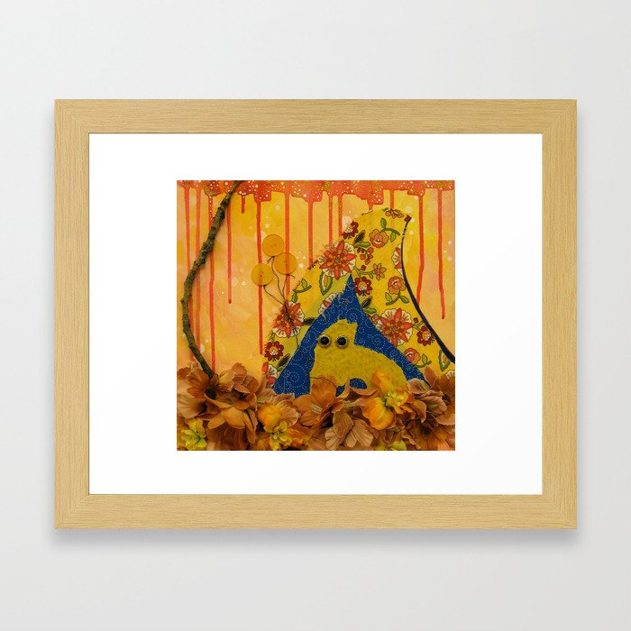 i wonder if the rain loves the trees and fields, that it kisses them so gently? Framed Art Print