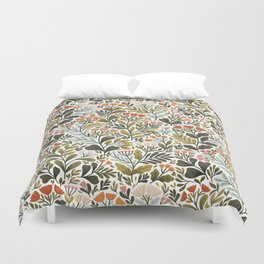 Month of May ~ white Duvet Cover