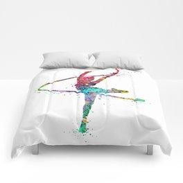 Rhythmic Gymnastics Print Sports Print Watercolor Print Comforters