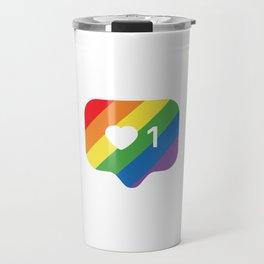 Instagram LGBTQ Heart Notification Travel Mug