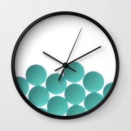 Isolated Deep Sea Blue Pills Texture Wall Clock