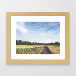 farm field Framed Art Print