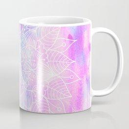 Modern hand painted pink lilac watercolor mandala pattern Coffee Mug