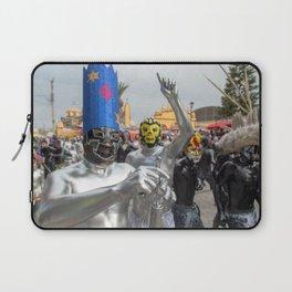 Silver Lucha Libre Laptop Sleeve