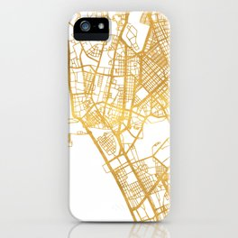 MANILA PHILIPPINES CITY STREET MAP ART iPhone Case