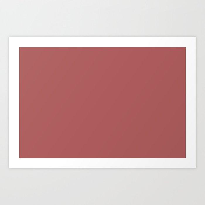 PANTONE 18-1630 Dusty Cedar Art Print
