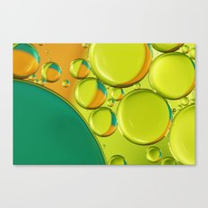 Bubble Abstract with a Twist of Lime Canvas Print