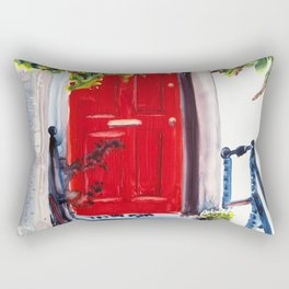 Red Door Rectangular Pillow