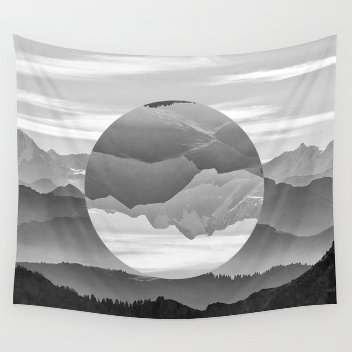 Geo Nature Mountains Wall Tapestry