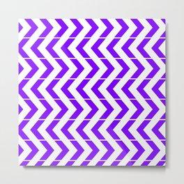 Zig Za Purple Metal Print