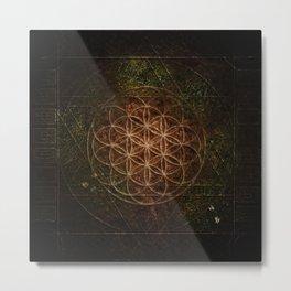 Flower of Life (Earthen) Metal Print