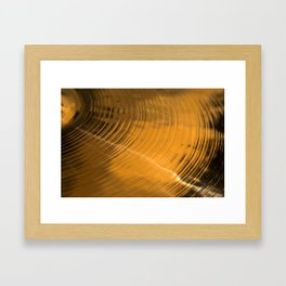 Closeup detail of the cymbal Framed Art Print