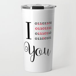 Our love in binary code Travel Mug