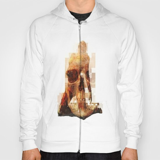 abstract girl w/ skull Hoody