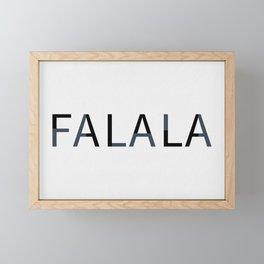 Falalal Christmas Art Framed Mini Art Print