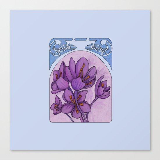 Art nouveau. Saffron. Canvas Print