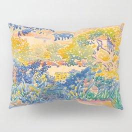 Henri-Edmond Cross Neo-Impressionism Pointillism The Artist's Garden at St. Clair Watercolor Paintin Pillow Sham