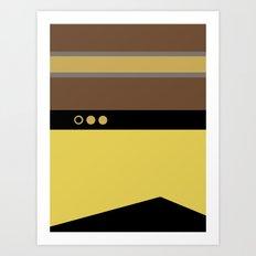 Geordie La Forge - Minimalist Star Trek TNG The Next Generation - 1701 D startrek Trektangles Art Print