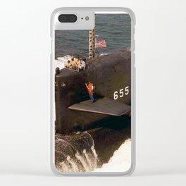 USS HENRY L. STIMSON (SSBN-655) Clear iPhone Case