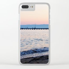 Morning waves Clear iPhone Case