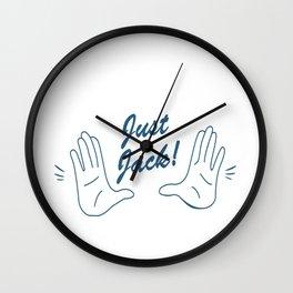 Just Jack! Wall Clock