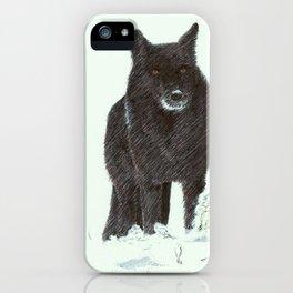 Wolf's snow iPhone Case