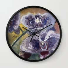 Orchid Morning Wall Clock