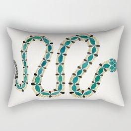 Emerald & Gold Serpent Rectangular Pillow