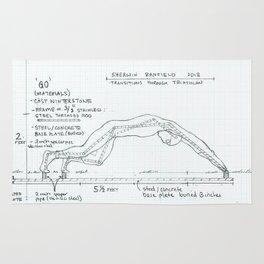 Go Drawing, Transitions through Triathlon Rug