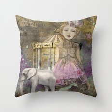 The life of a girl in the circus. Throw Pillow