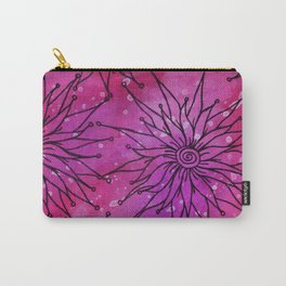 Flowers on pink and purple Carry-All Pouch
