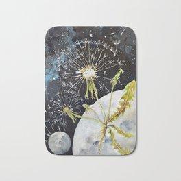 Dandelion Moon Surreal Space Travel, Taraxacum Bath Mat