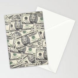 Collage of Currency Graphic Stationery Cards