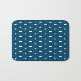 Tiny Subs - Navy Bath Mat