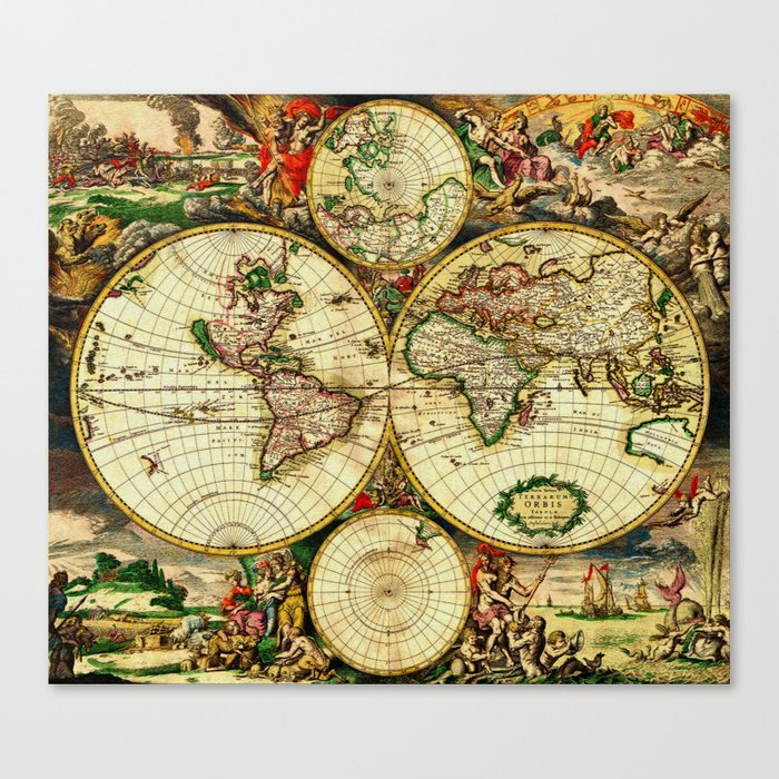 Ancient world map 1689 canvas print by yesteryears society6 ancient world map 1689 canvas print gumiabroncs Gallery