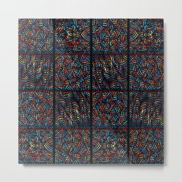 total psychedelic mess pattern Metal Print
