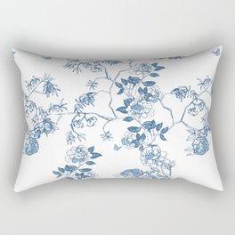 Chinoiserie in White Rectangular Pillow