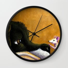 Dog and Mouse Wall Clock