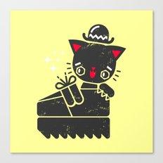 Cat In Platform Shoe Canvas Print