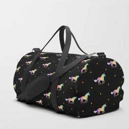 Rainbow Unicorns & Stars Duffle Bag