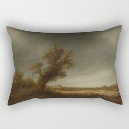 andscape with an old oak, Adriaen van Ostade, 1640 - 1650 Rectangular Pillow