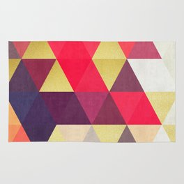 Colorful and golden geometric triangles IV Rug